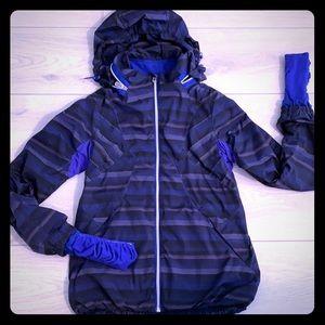 🦄 Blue Poncho Stripe Lululemon run HUSTLE jacket